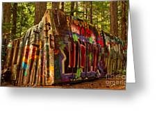 Canadian Box Car In The Forest Greeting Card