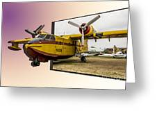 Canadair 3d Greeting Card
