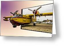 Canadair 3d Greeting Card by Stefano Piccini