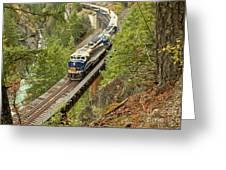 Canadan Railroad Above The Cheakamus River Greeting Card