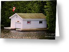 Canadian Boathouse  Greeting Card