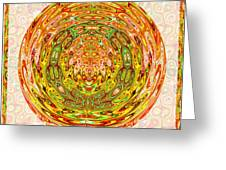 Canadian Fall Colors Conversion Into Chakra Wheel Deco Enery Mandala Greeting Card