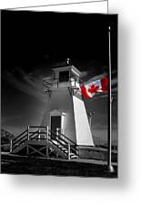 Canadian Flag Half-mast Greeting Card
