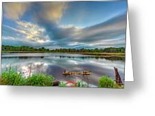 Canadian Geese On A Marylamd Pond Greeting Card