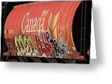 Canadian Graffitti Greeting Card