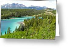Canadian Highway Lake Greeting Card