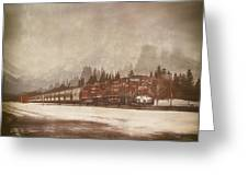 Canadian Pacific In Banff  Greeting Card