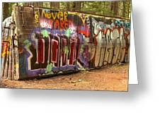 Canadian Pacific Train Wreck Graffiti Greeting Card
