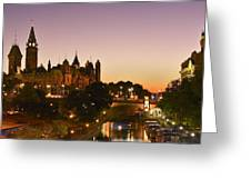 Canadian Parliament Buildings Greeting Card by Tony Beck