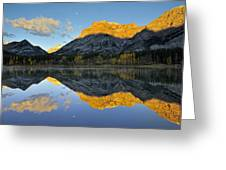 Canadian Rocky Mountain Autumn Landscape Greeting Card