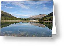 Canadian Rocky Mountains With Lake  Greeting Card