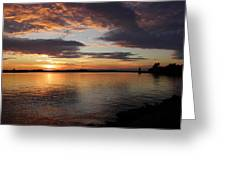 Canadian Sunset Greeting Card
