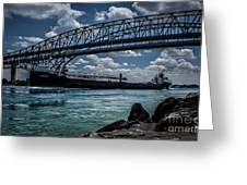 Canadian Tranfer Under Blue Water Bridges Greeting Card