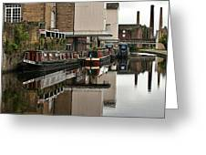 Canal And Chimneys Greeting Card by Jeremy Hayden
