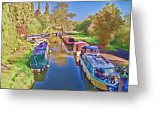 Canal Barges Greeting Card