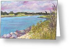 Canal Beach Greeting Card