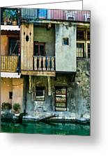 Canal Du Vasse Annecy Greeting Card