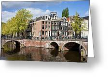 Canal Houses In Amsterdam Greeting Card