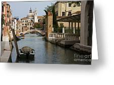 Canal In Venice Greeting Card