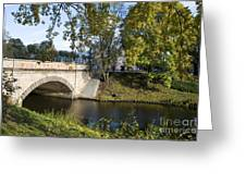 Canal Near Freedom Monument Riga Greeting Card