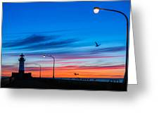 Canal Park Sunrise Greeting Card