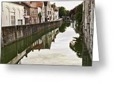 Canal Reflection  Greeting Card