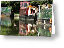 Canal Reflections Cropped Greeting Card