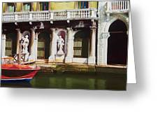 Canal Scene  Venice Italy Greeting Card