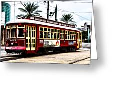 Canal Street Car Greeting Card