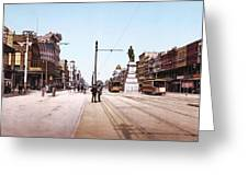 Canal Street New Orleans 1900 Greeting Card