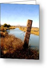 Canal View  Mesilla Greeting Card