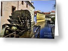 Canal Waterwheel Greeting Card