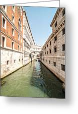 Canals Of Venice Greeting Card