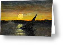 Canary Sunset Greeting Card