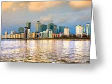 Canary Wharf - London - Uk Greeting Card