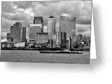 Canary Wharf Greeting Card