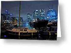 Canary Wharf Dockyards  Greeting Card