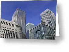 Canary Wharf London Greeting Card
