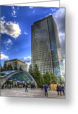 Canary Wharf Station London Greeting Card