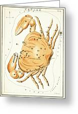Cancer Constellation - 1825 Greeting Card