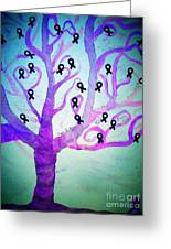 Cancer Survivors' Tree Greeting Card by Jackie Bodnar
