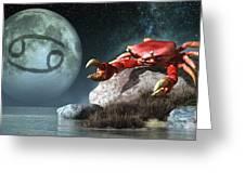 Cancer Zodiac Symbol Greeting Card