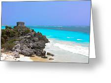 Cancun Ocean Front Greeting Card