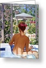 Candace Being Candlish On Canvas Greeting Card