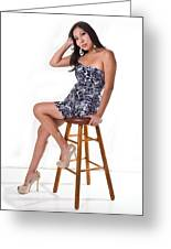 Candace On Stool Greeting Card