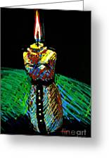 Candle Bust Greeting Card