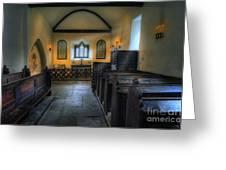 Candle Church Greeting Card