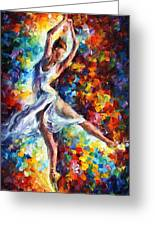 Candle Fire - Palette Knife Oil Painting On Canvas By Leonid Afremov Greeting Card