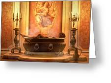 Candle Lit Bath Greeting Card