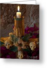 Candle On Day Of Dead Altar Greeting Card